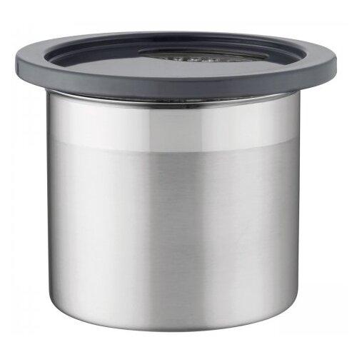 BergHOFF Емкость для хранения сыпучих продуктов с отвертиями 3700068 1.2 л серебристый емкость для хранения berghoff eclipse 3700068