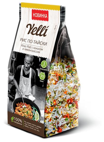 """Купить Рис по-тайски Khao Pad с кокосом и лемонграссом """"Yelli"""" 150 г *1 по низкой цене с доставкой из Яндекс.Маркета (бывший Беру)"""