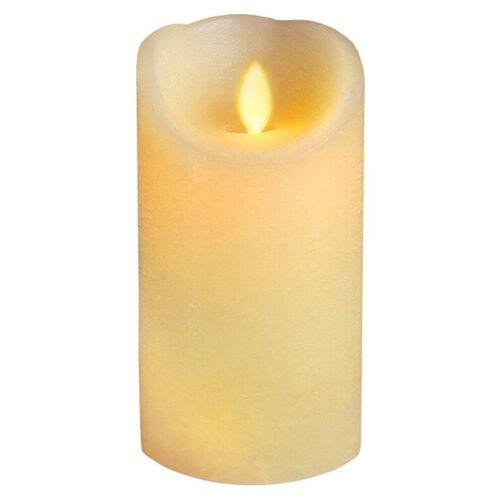 свеча светодиодная пластиковая с эффектом мерцающего пламени высота 8 5 см цвет бежевый 063 88 Свеча светодиодная с эффектом мерцающего пламени, высота 15 см, цвет - бежевый, 068-70