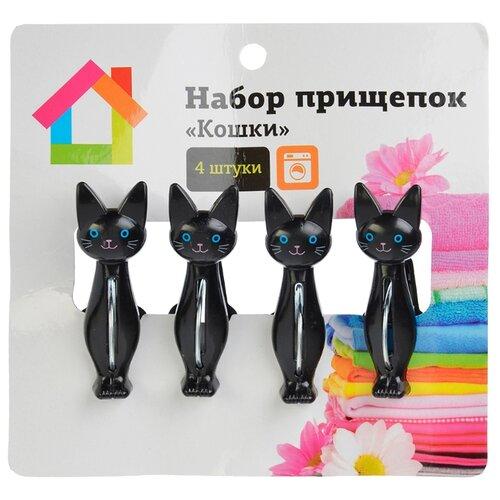 Florento прищепки Кошки 4 шт. черный