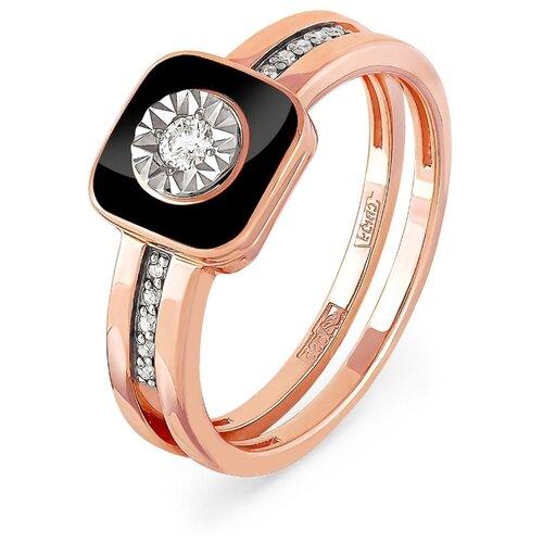 KABAROVSKY Кольцо с 11 бриллиантами из красного золота 11-0804-1002, размер 18 kabarovsky кольцо 11 21151 2302 размер 18