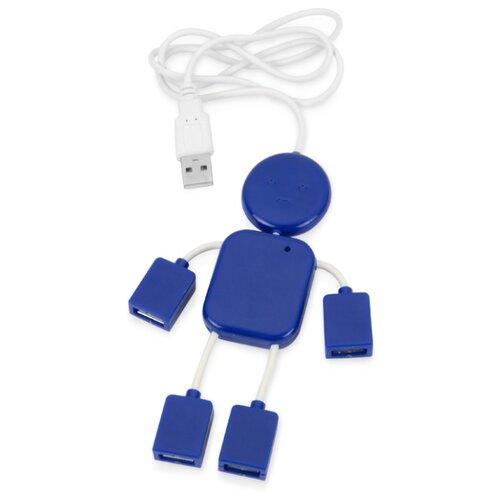 USB Hub «Человечек», синий