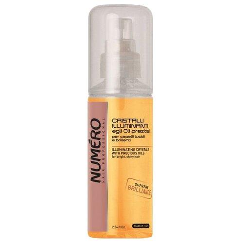 Brelil Professional Numero Жидкие кристаллы для волос для придания блеска с маслом макадамии и арганы, 75 мл