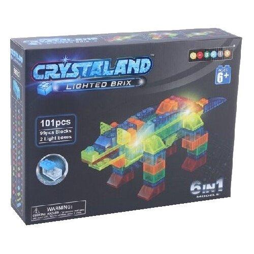 Купить Конструктор Crystaland Lighted Brix 86899 Динозавр 6 в 1, Конструкторы
