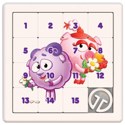 Головоломка Нордпласт Собирашки Смешарики Нюша и Бараш (863) белый/розовый/фиолетовый смешарики шторка экран смешарики на боковое окно фиолетовый