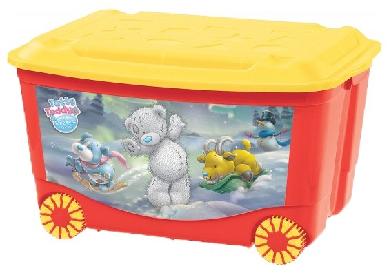 Ящик Пластишка Пластишка для игрушек на колесах Me to You, 580x390x335мм, зеленый, 431304109