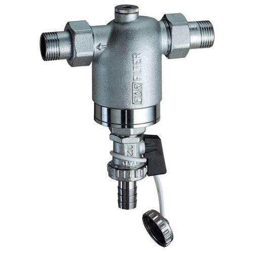 Фото - Фильтр механической очистки FAR FA 3943 муфтовый (НР/НР), латунь серебристый Ду 15 (1/2) запорный клапан far ft 1616 муфтовый нр нр латунь для радиаторов ду 15 1 2