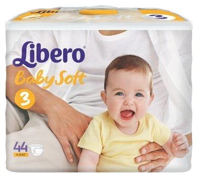 Libero подгузники Baby Soft 3 (4-9 кг) 44 шт.