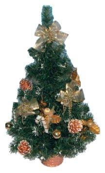 Новогодняя елка с инеем и украшениями, 61 см Snowmen