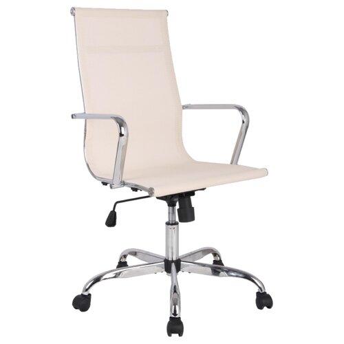 цена Компьютерное кресло College H-966F-1, обивка: текстиль, цвет: бежевый онлайн в 2017 году