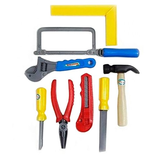 Купить Shantou Gepai Кузя Молотков, 8 предметов ZYK-021C-4, Детские наборы инструментов