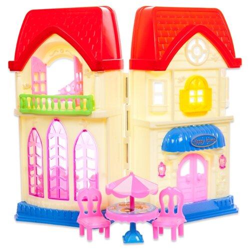 Купить ABtoys кукольный домик В гостях у куклы PT-00498, бежевый/красный, Кукольные домики
