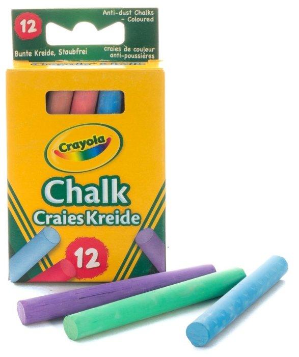 Crayola Мелки цветные неосыпающиеся 12 цветов 0281C