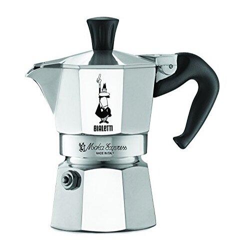 Гейзерная кофеварка Bialetti Moka Express 1168 (100 мл), серебристый