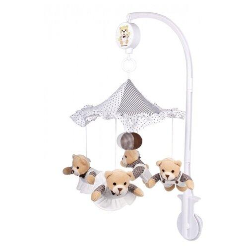 Купить Механический мобиль Canpol Babies Мишки (2/374) белый, Мобили