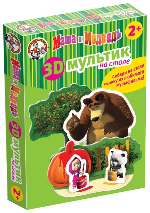 3D-пазл Десятое королевство Краски с Машей и Медведем (01437), 7 дет.