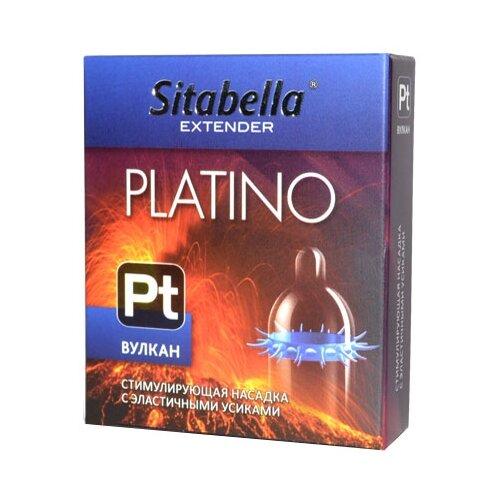 Фото - Стимулирующая насадка Sitabella Platino Вулкан (1 шт.) стимулирующая насадка презерватив с усиками и шипами sitabella extender platino – ураган