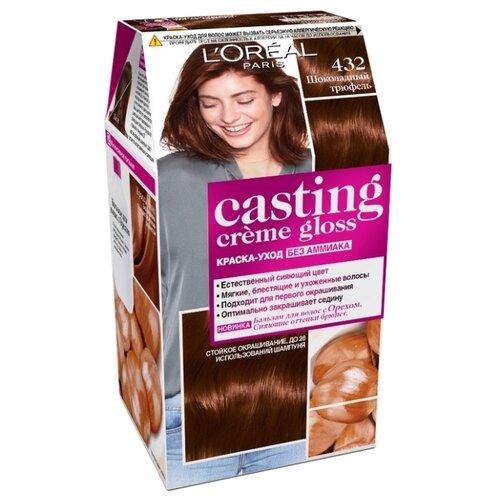 L\'Oreal Paris Casting Creme Gloss стойкая краска-уход для волос, 432, Шоколадный трюфель