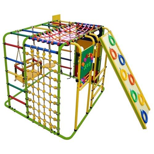 Купить Спортивно-игровой комплекс Формула здоровья Кубик-У Плюс салатовый/радуга, Игровые и спортивные комплексы и горки