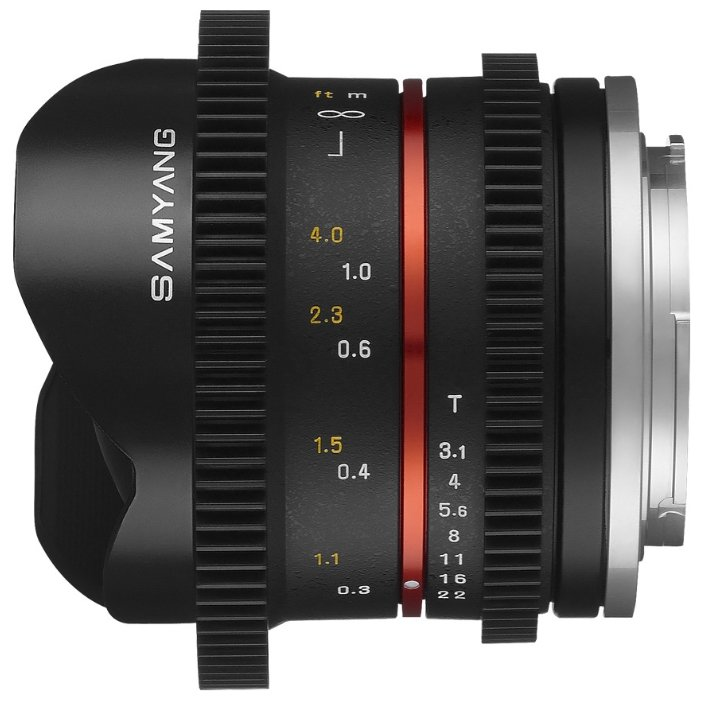 Samyang 8mm T3.1 V-DSLR UMC Fish-eye II Canon M