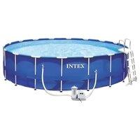 Бассейн каркасный Intex Metal Frame Pool, 549х122 см + фильтр-насос + аксессуары, арт. 28252, Интекс
