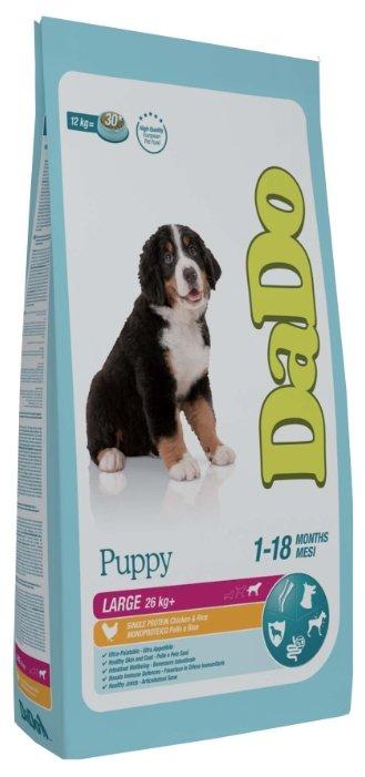 Корм для собак DaDo Для щенков крупных пород с курицей и рисом