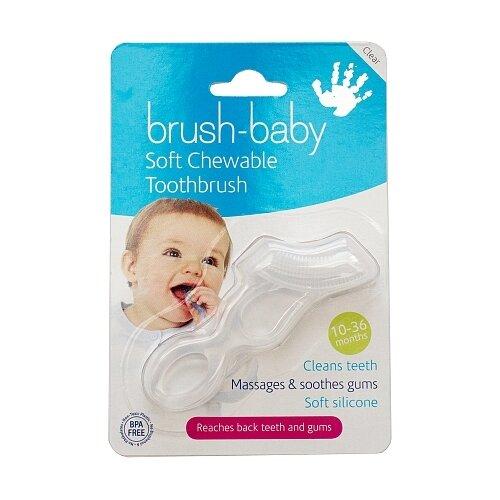 Купить Зубная щетка Brush Baby BRB001 10-36 месяцев, прозрачный, Гигиена полости рта