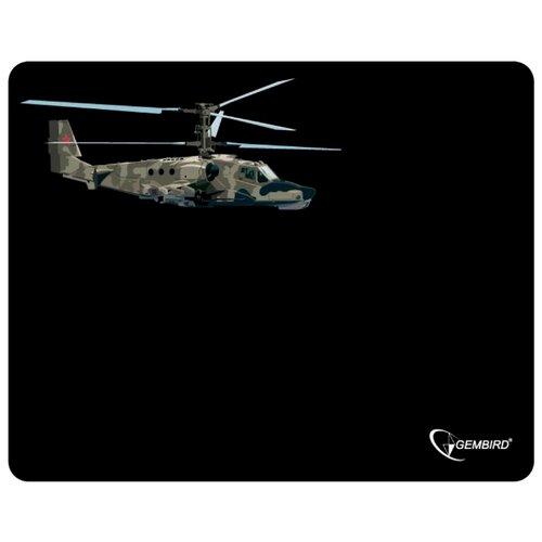 Коврик Gembird MP-GAME4 черный/вертолет