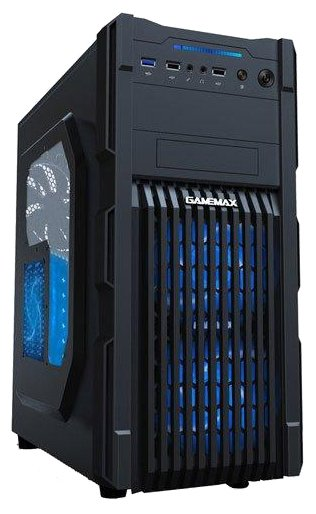 GameMax Компьютерный корпус GameMax G535 Black/blue