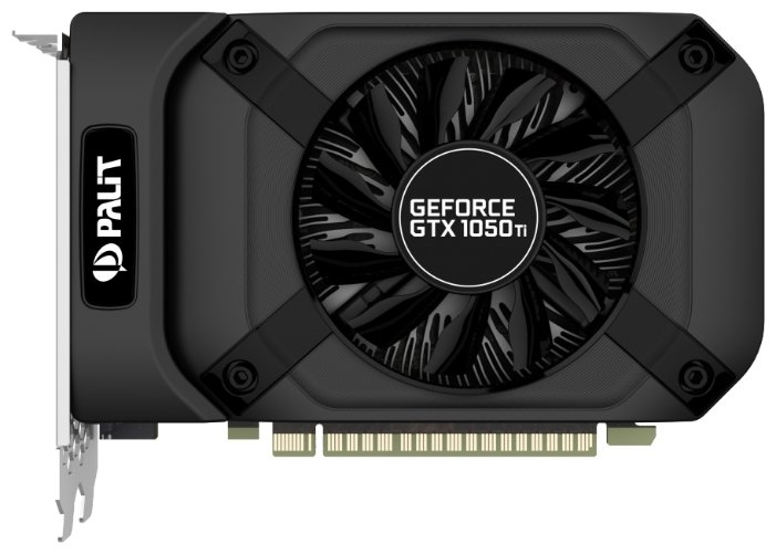 Palit GeForce GTX 1050 Ti 1290Mhz PCI-E 3.0 4096Mb 7000Mhz 128 bit DVI HDMI HDCP StormX