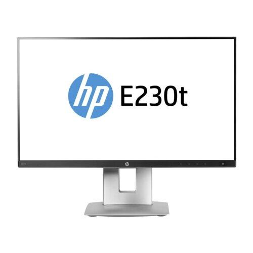 Монитор HP EliteDisplay E230t 23 серый/черный монитор hp 24fw 23 8 серебристый черный [4tb29aa]