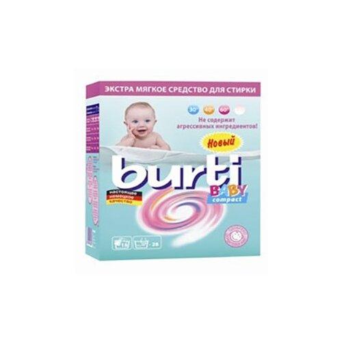 Стиральный порошок Burti Baby Compact 0.9 кг картонная пачкаСтиральный порошок<br>