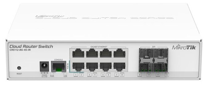 MikroTik Коммутатор MikroTik Cloud Router Switch CRS112-8G-4S-IN