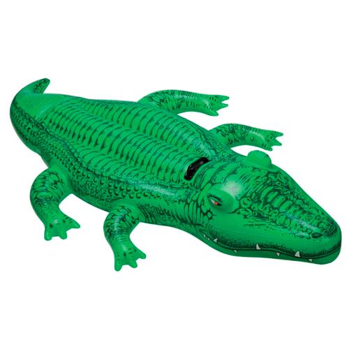 Купить Надувная игрушка-наездник Intex Крокодил 58546 зеленый, Надувные игрушки