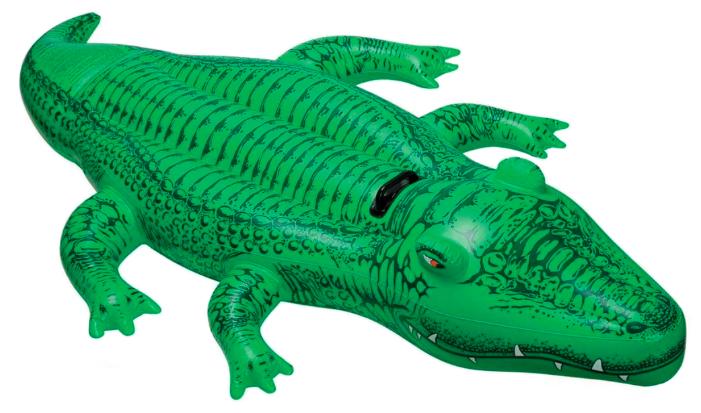 Надувная игрушка-наездник Intex Крокодил 58546