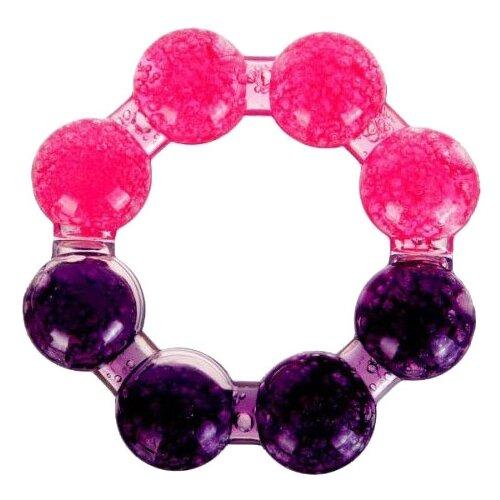 Прорезыватель Бусинка Кольцо розовый/фиолетовый.