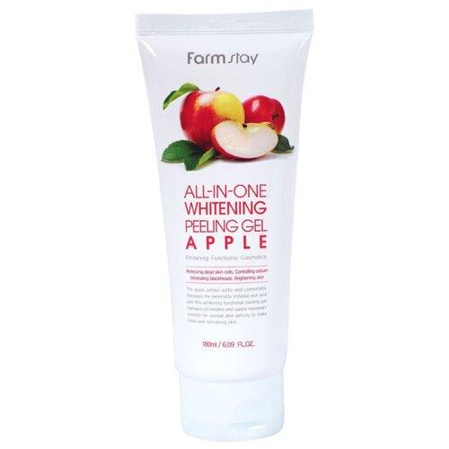 Farmstay пилинг для лица All-In-One Whitening Peeling Gel Apple 180 мл пилинг скатка с экстрактом киви farmstay all in one whitening peeling gel kiwi 180мл
