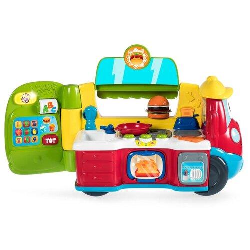 Купить Интерактивная развивающая игрушка Chicco Говорящая фургон-кухня рус/англ зеленый/красный, Развивающие игрушки