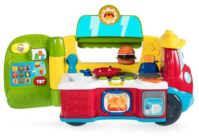 Интерактивная развивающая игрушка Chicco Говорящая фургон-кухня рус/англ
