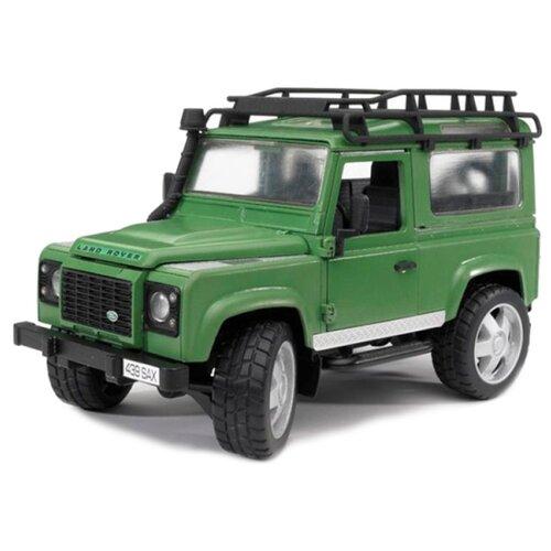 Фото - Внедорожник Bruder Land Rover Defender (02-590) 1:16 28 см зеленый внедорожник bruder jeep cross counrty racer 02 541 29 см голубой