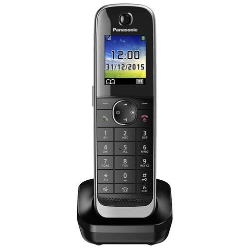 Дополнительная трубка Panasonic KX-TGJA30 черный радиотелефон dect panasonic kx tgh212rub дополнительная трубка kx tgha20 черный