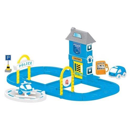 Фото - Dolu Игровой набор парковка, заправка, Полицеский участок Kit 5151 синий tr 5151