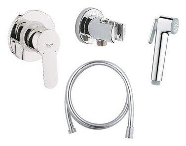 Гигиенический душ встраиваемый Grohe BauEdge 124898 хром — купить по выгодной цене на Яндекс.Маркете