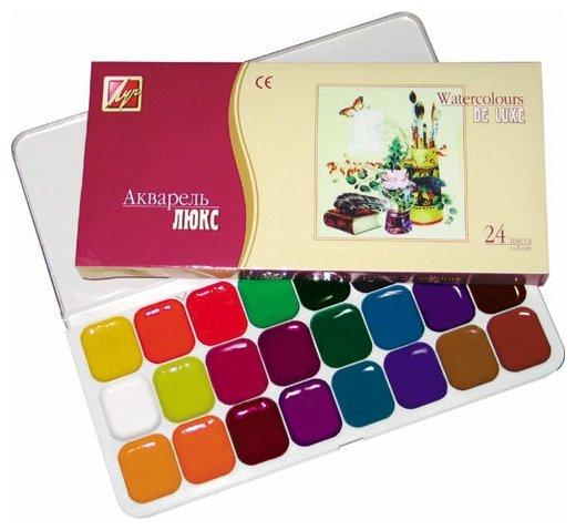 Луч Акварельные краски Люкс 24 цвета, без кисти (14С 1039-08)