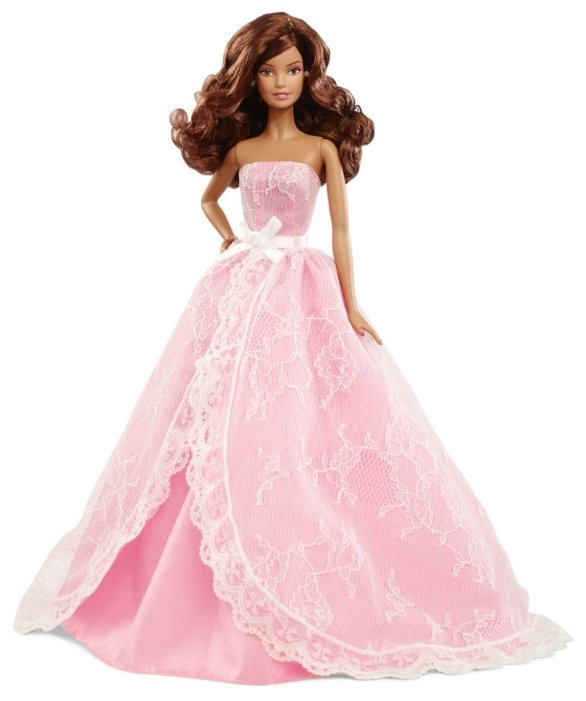 Кукла Barbie Пожелания ко дню рождения 2015 Шатенка, 29 см, CJY58