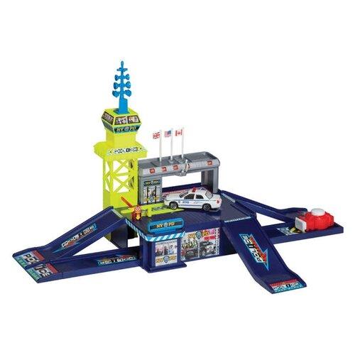 Купить Realtoy Полицейский участок 28516 синий/желтый/серый, Детские парковки и гаражи