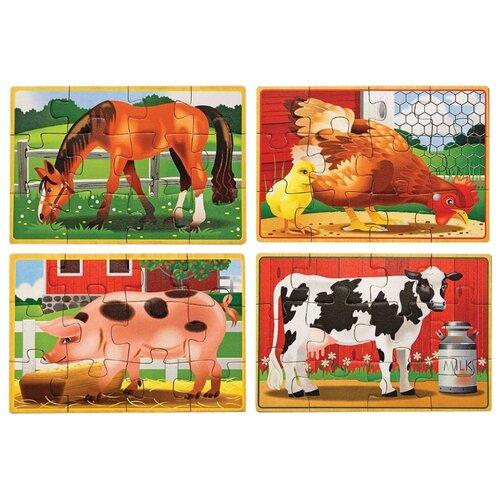 Купить Набор пазлов Melissa & Doug Животные с фермы (3793), Пазлы