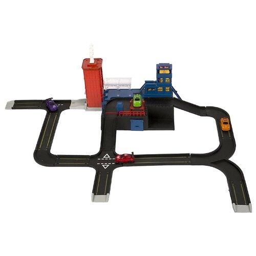 Купить TONG DE Пожарная часть красный/синий/черный/серый, Детские парковки и гаражи