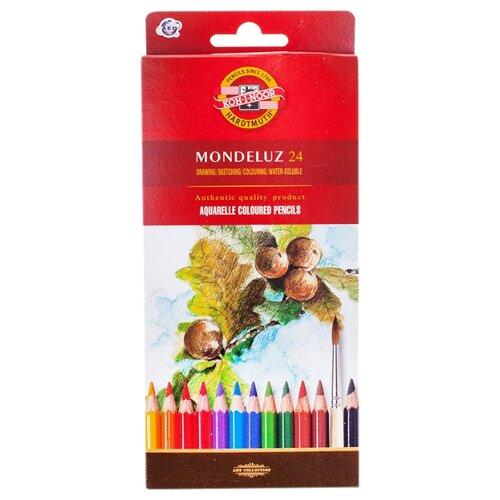 Купить KOH-I-NOOR Карандаши акварельные Mondeluz, 24 цвета (3718024001KS), Цветные карандаши