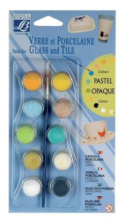 Краски LEFRANC & BOURGEOIS Glass &Tile Pastel Opaque LF808054 10 цв. (4 мл.)